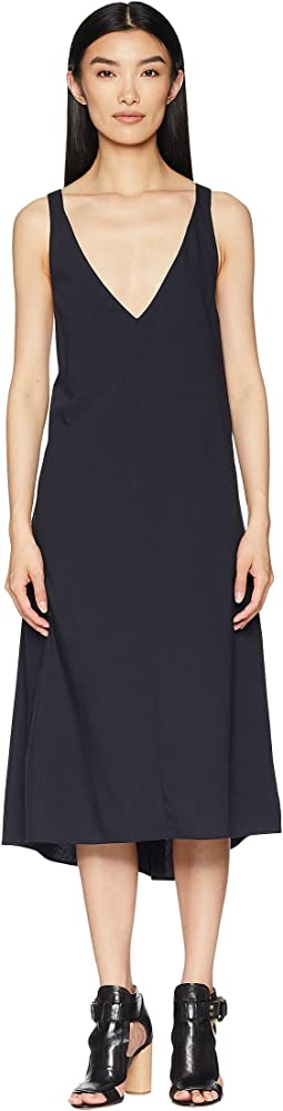 V-Neck Dress with Braces at the Back