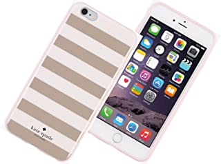 Kate Spade New York Flexible Hardshell Case for iPhone 6 Plus /6s Plus - Candy Stripe Rose Gold