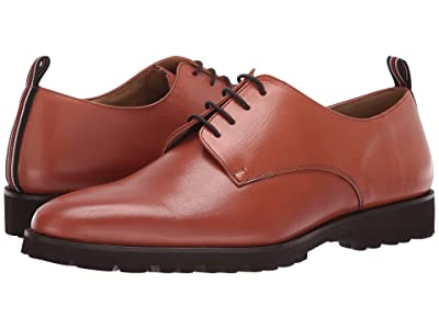 CARLOS by Carlos Santana Power Lite Oxford (Cognac Full Grain Calfskin Leather) Men