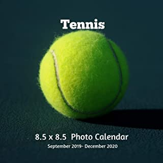 Tennis 8.5 X 8.5 Photo Calendar September 2019 -December 2020: Monthly Calendar with U.S./UK/ Canadian/Christian/Jewish/Muslim Holidays-Tennis Sports and Recreation