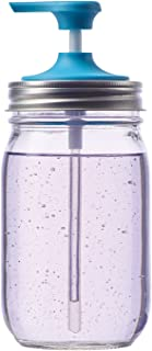 Jarware 82648 Soap Pump Lid for Regular Mouth Mason Jars, Blue