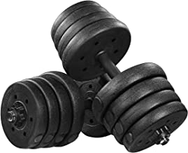 Homemaxs Adjustable Dumbbells Set 66LB, Solid Dumbbell Weights, Non-Slip Dumbbells Set with Easy-Adjusting Nuts and Durabl...
