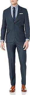 Men's 2 Button Slim Fit Suit with Hemmed Pant