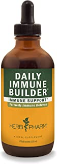 Herb Pharm Daily Immune Builder Herbal Immune System Defense Liquid - 4 Ounce