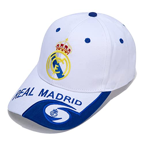 DanielFelix Real Madrid F.C. -Embroidered Authentic EPL Adjustable White Baseball Cap