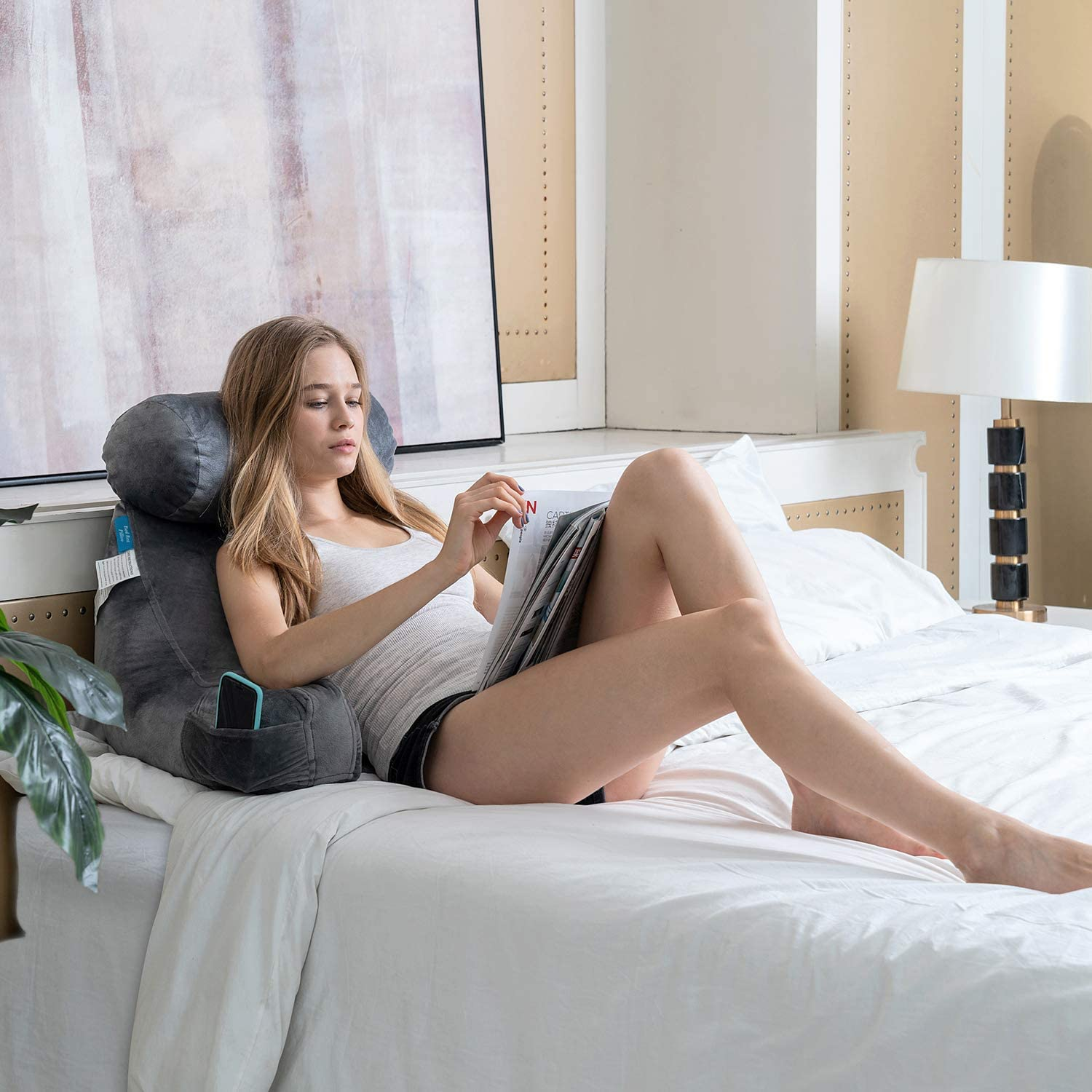 ZOEMO Bed Rest Reading Pillow