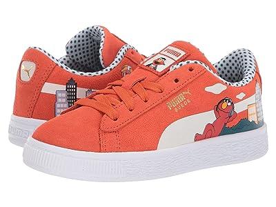 Puma Kids Sesame STR 50 Suede (Little Kid) (Cherry Tomato/Puma White) Kids Shoes