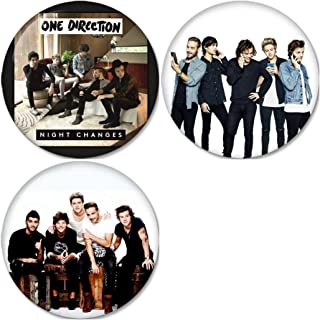One Direction : Night Changes Pinback Buttons Badges/Pin 1.25 Inch (32mm) Set of 3 New