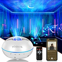 Star Porjector Night Light Galaxy Northern Lighting Lamp with Bluetooth Music Speaker Remote Control Aurora Sky Ambiance for Kids Bedroom Patry Home Decor (White)