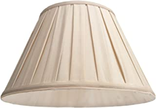 Antique White Round Box Pleat Lamp Shade 9x16x10 (Spider) (Pack of 1)