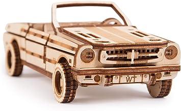 کیت مکانیکی Wood Trick 3D مدل Cabriolet Car Wood Puzzle، Assembly Constructor Brain Teaser Tears مجموعه DIY