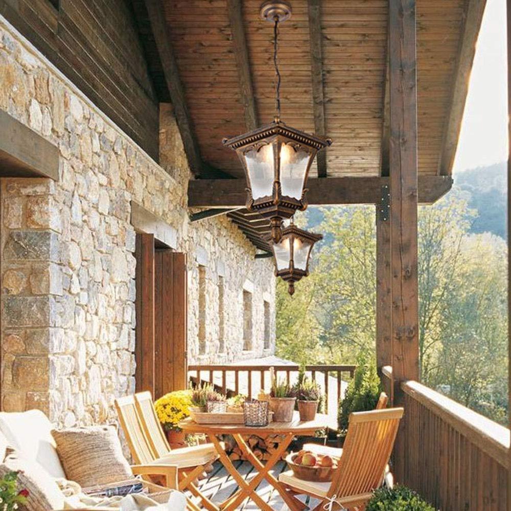 Vintage Edison E27 – Lámpara de techo para exterior, uso interior ...