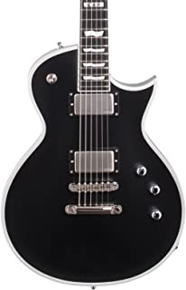 ESP E-II ECBB Eclipse Electric Guitar with Case, Satin Black
