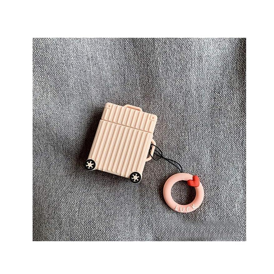 くるくる略奪つぶすJinnuotong ヘッドホンカバー、ワイヤレスイヤホンカバー、荷物の形のBluetoothイヤホンボックス、シリコン素材、アンチドロップと傷 丈夫 (Color : Pink)