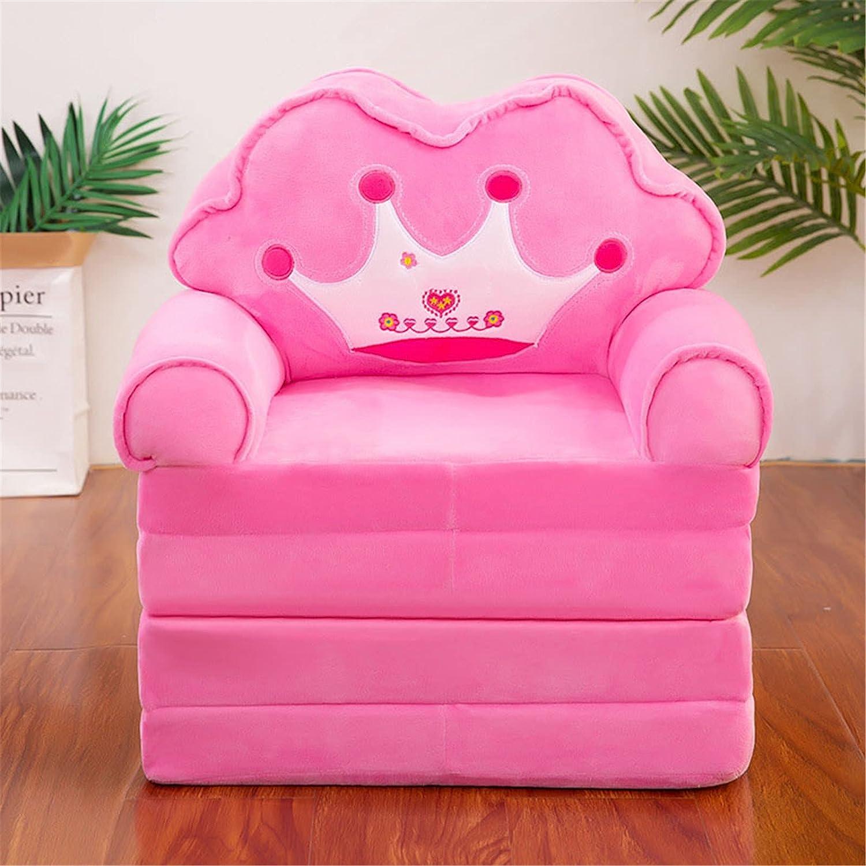 ZJDU Plush Foldable Kids Houston Mall Sofa Bed Childrens Chair Backrest Outstanding