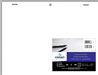 Canson Artist Series Acme Punched Translucent Animation Paper, 10 Frame, 20 Pound, 8.5 x 11 Inch, 100 Sheets