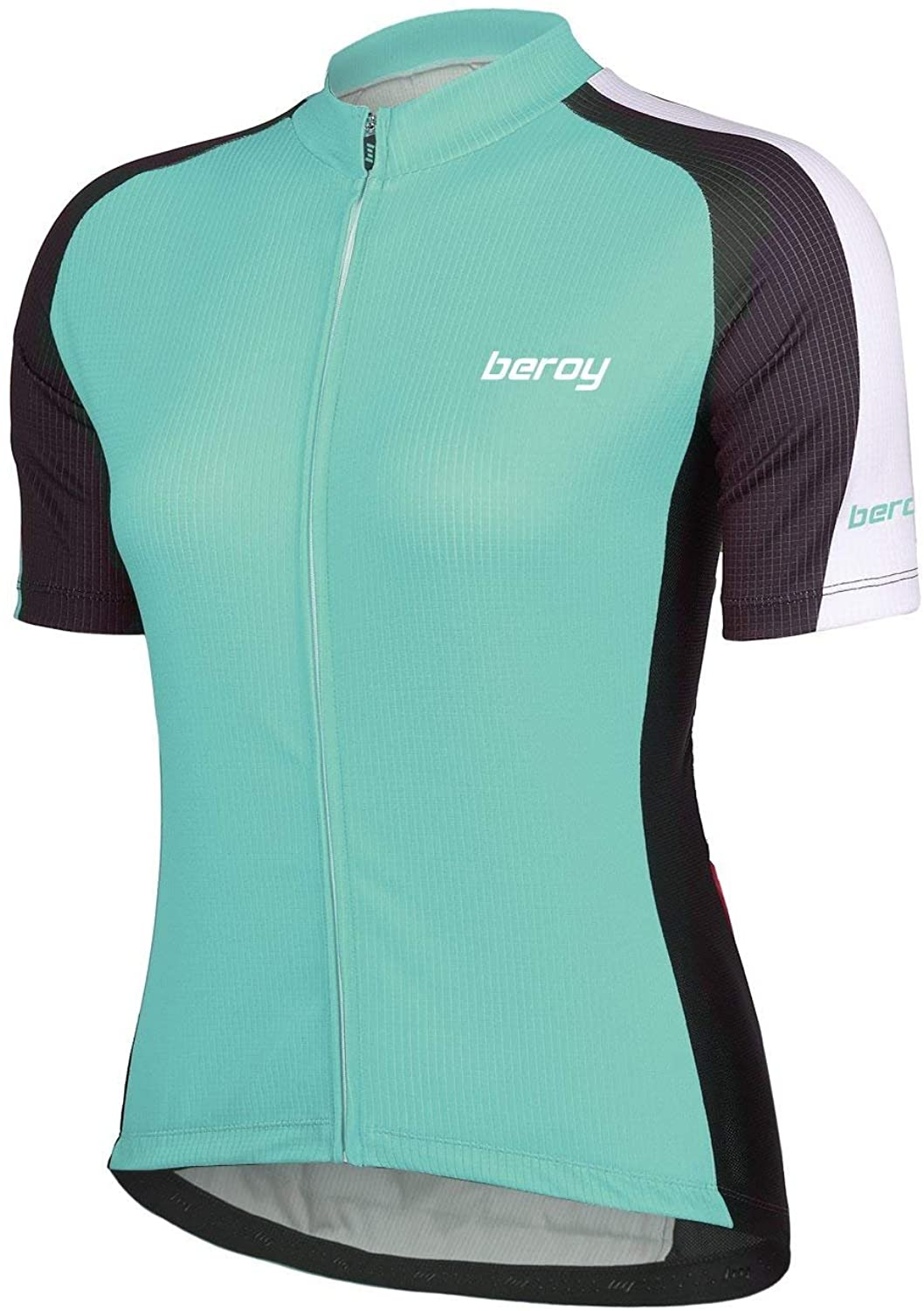 Beory Womens Cycling Jerseys with Short Sleeves,Girls Bike Short Sleeves with Three Pockets(XXXL Green)