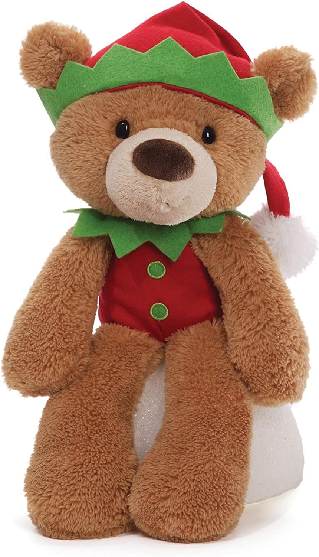 Gund 4042760 Fuzzy Elf Light Brown Christmas Soft Toy Plush