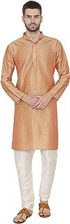 Men's Banarsi Art Silk Tailored Fit Festive and Casual Kurta Chudidar Pajama Pyjama - 6 Colors