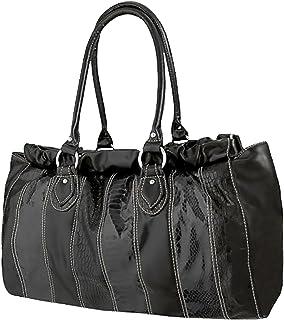 EyeCatchBags - Bella Damen Handtasche Schultertasche aus glattem Kunstleder