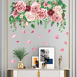 FloralFlowerUScolor026ET Removable and Reusable Vinyl Decal Floral Flower Wall Decal Wall Fabric