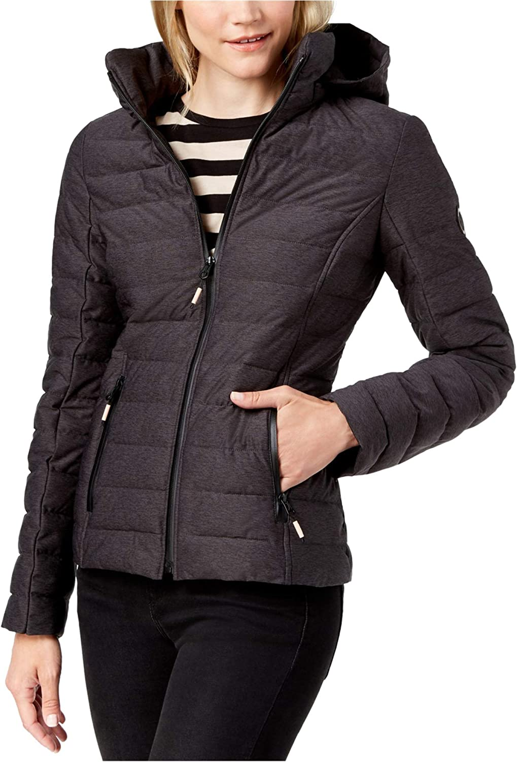 Nautica Womens Hooded Quilted Jacket