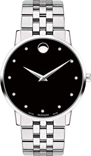 Museum, Stainless Steel Case, Black Dial, Stainless Steel Bracelet, Men, 0607201