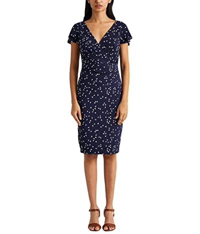 LAUREN Ralph Lauren Print Jersey Surplice Dress Women