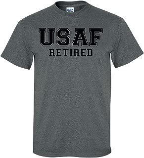 ZeroGravitee USAF Retired Black Logo Short Sleeve T-Shirt
