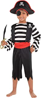 Suit Yourself Rascal Pirate Costume for Toddler Boys, Size 3T to 4T, Includes a Jumpsuit with a Belt and a Pirate Hat