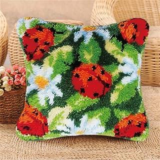Kit de Crochet de loquet, Couverture d'oreiller Faire de l'artisanat Kit Insectif Modèle DIY Crochet Fils Kits pour Enfant...