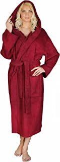 Women's Classic Hooded Bathrobe Turkish Cotton Terry Cloth Robe