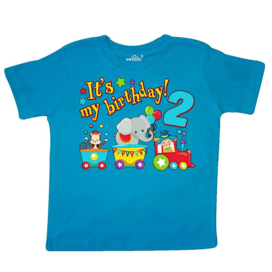 inktastic - Its My Birthday- Circus Train 2nd Birthday Toddler T-Shirt 2e936