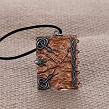 NUTY DESTY Hocus Pocus Movie Book - Hocus Pocus Spell Book Necklace,Witches Sanderson Sister Halloween Jewelry Double Sided 3D Book Prop Replica Pendant Wholesale