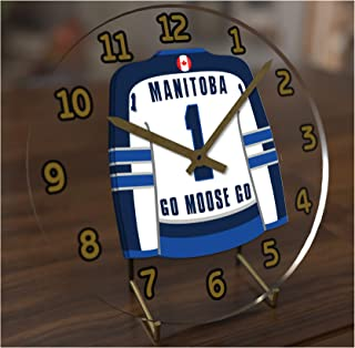 AHL American Hockey League Jersey Themed Desktop Clocks - All A H L Team Colours Available - Support Your Team !!!