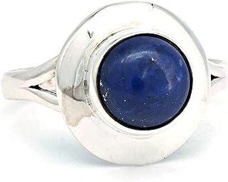 Gemondo Argent Sterling 0.9ct Lapis Lazuli /& 0.088 Carat Marcassite Art D/éco Bague Style