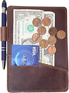 Hide & Drink, Thick Leather Check Presenter With Card Slot/Restaurant & Cafe Accessories/Bill Holder/Waiter/Waitress, Handmade Includes 101 Year Warranty :: Bourbon Brown
