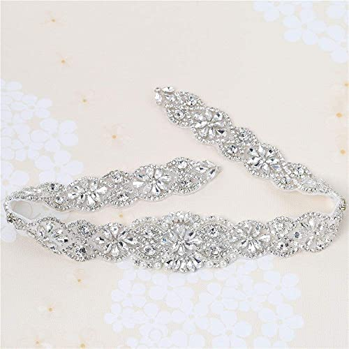 Wedding Bridal Applique for Crystal Rhinestone Dress Sash Belt Evening Gown  Party Prom Clothes Accessories Pearl 2c49a2c2bfbd