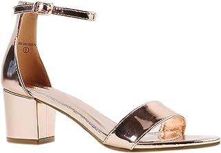 e34277a9f Women's Fashion Ankle Strap Kitten Heel Sandals - Adorable Cute Low Block  Heel – Jasmine