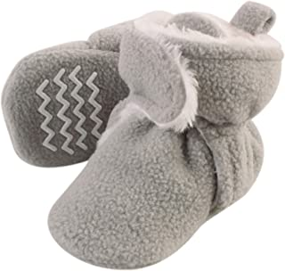 Hudson Baby Baby Cozy Sherpa Booties with Non Skid Bottom