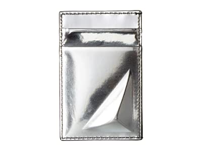 Alexander McQueen Metallic Card Holder (Silver) Wallet