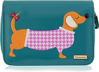 Kukubird Girls sausage dog Ladies Medium Dachshund Cartoon Designs Purse Wallet - Christmas Stocking filler