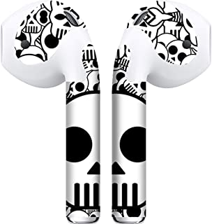 APSkins 2 Piece Printed Skins Wrap. Compatible with Apple Airpods (Skulls)