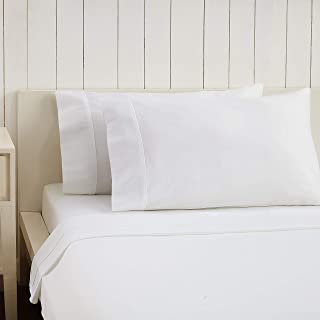 Ayesha Curry 300 THREAD COUNT SATEEN SOLID SHEET SET, KING, WHITE
