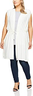 My Size Women's Plus Size Peony Vest, Black
