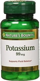 Nature's Bounty Potassium Gluconate 300 Caplets (3 X 100 Count Bottles)