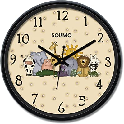 Amazon Brand - Solimo 12-inch Wall Clock - Party Animals (Silent Movement)
