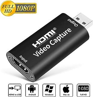 ALTENG HDMI キャプチャーボード ゲームキャプチャー ビデオキャプチャー 軽量小型 USB2.0対応 1080p30Hz 電源不要 PC/PS4/Xbox/PS3やOBS XSplit Potplayer Nintendo YouTubeなどにゲーム録画 実況 配信 ライブ会議用