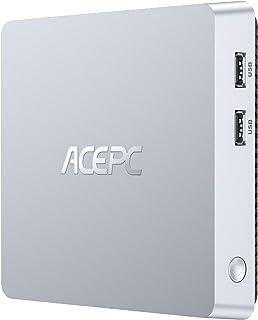 ACEPC T11 Mini PC Windows 10 Pro, 8 GB DDR3/128 GB eMMC sin ventilador Mini ordenador Intel Atom Z8350 de sobremesa compat...