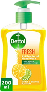 Dettol Fresh Anti-Bacterial Liquid Hand Wash 200ml - Citrus & Orange Blossom